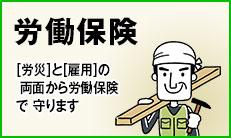 労働保険:[労災]と[雇用]の  両面から労働保険 で 守ります。